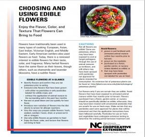AG-790  Choosing and Using Edible Flowers