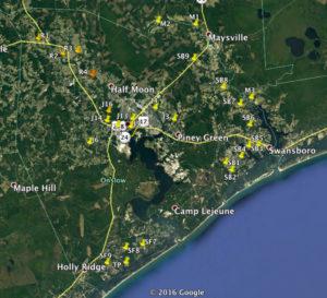 Water program sampling sites