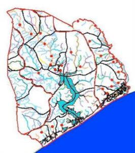 Hydrologic Unit Area map