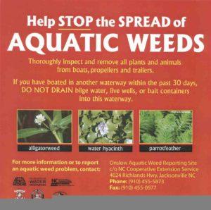 Stop the spread of Aquatic Weeds
