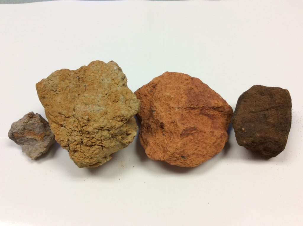 Color in soil due to iron