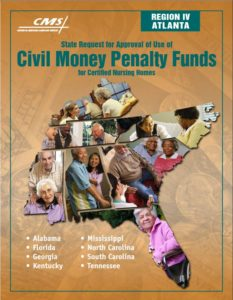 Cover of application for Civil Money Penalty Fund