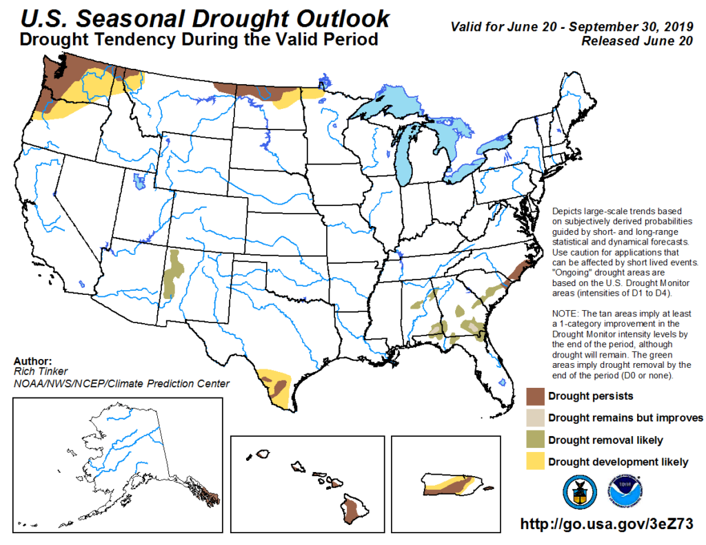 Drought outlook map