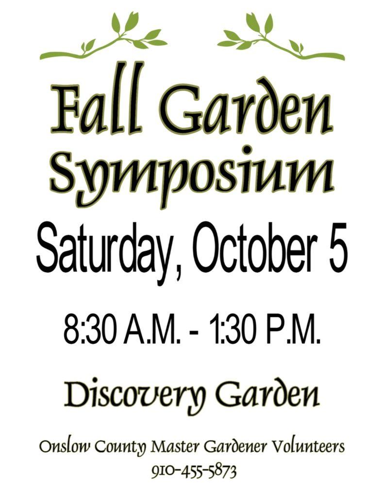 Fall Garden Symposium poster