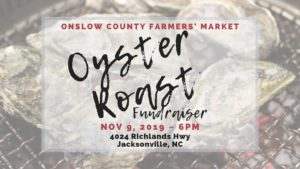 Cover photo for Onslow County Farmers' Market Oyster Roast Fundraiser