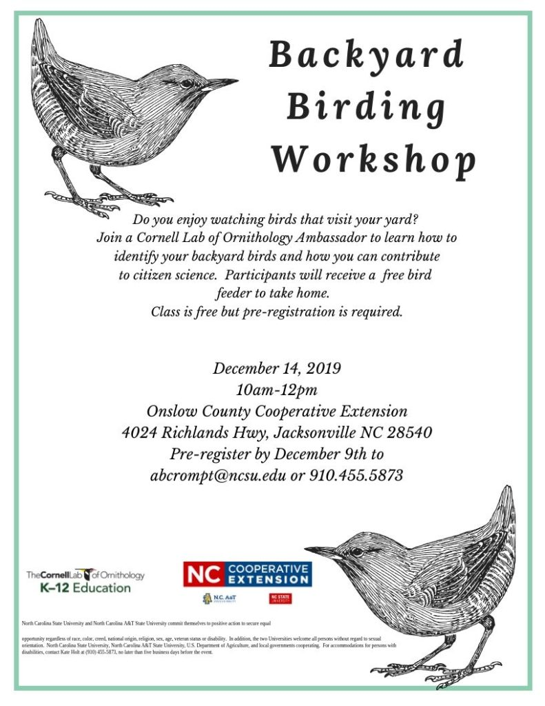 Backyard Birding Workshop