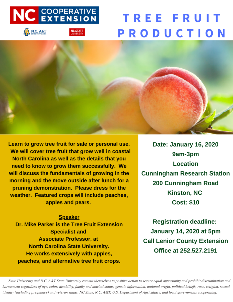 Tree Fruit Production flyer