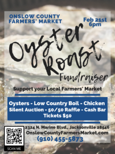 Cover photo for Onslow County Farmers Market Oyster Roast