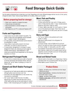 Cover photo for Food Storage: A Quick Guide