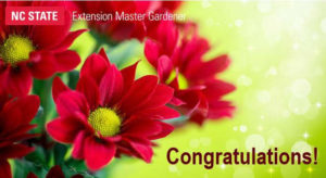 Cover photo for CONGRATS Master Gardener Volunteers of Onslow County!