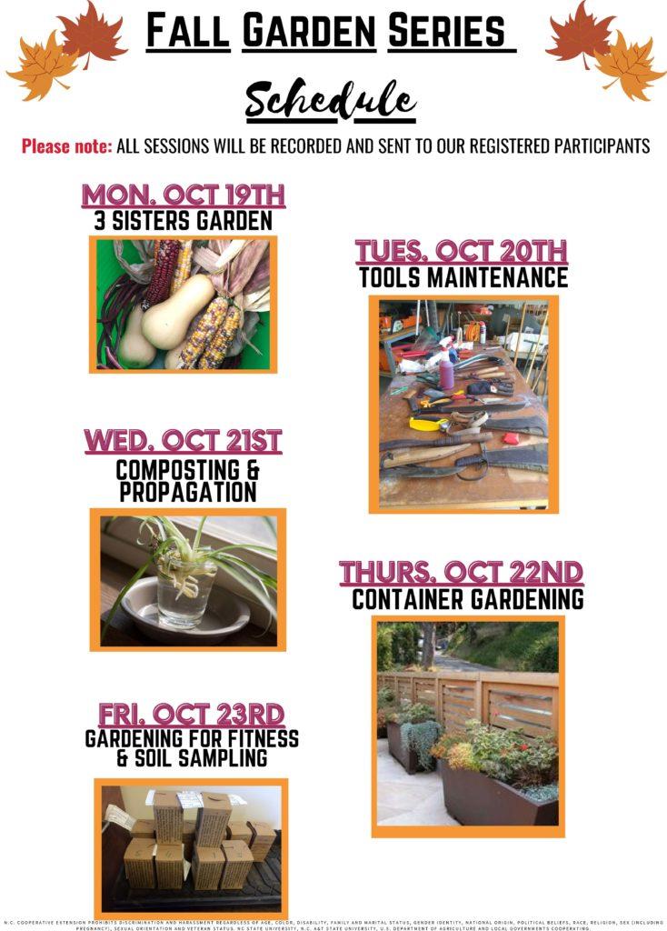 Fall Garden Series schedule