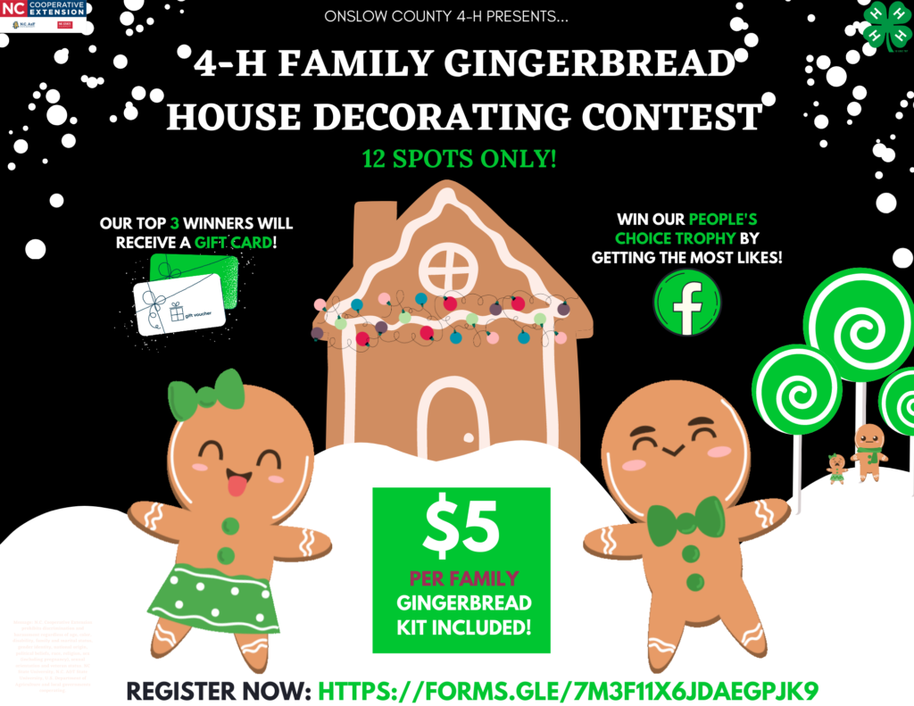 Drawing of gingerbread house and people