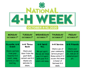 Cover photo for 2020 National 4-H Week in Onslow County