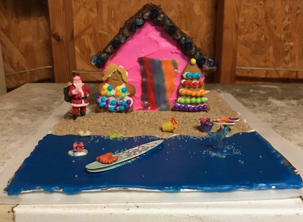 Team Howard's 'Christmas at Topsail Beach' Gingerbread House