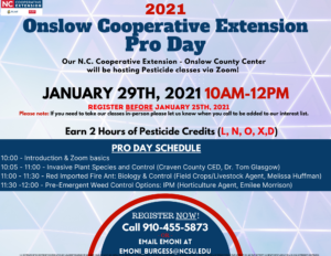 Cover photo for Onslow County Pro Day