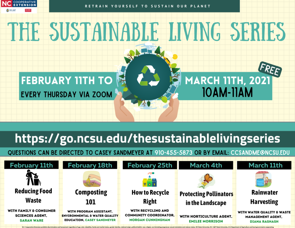 Sustainable Living Series flyer
