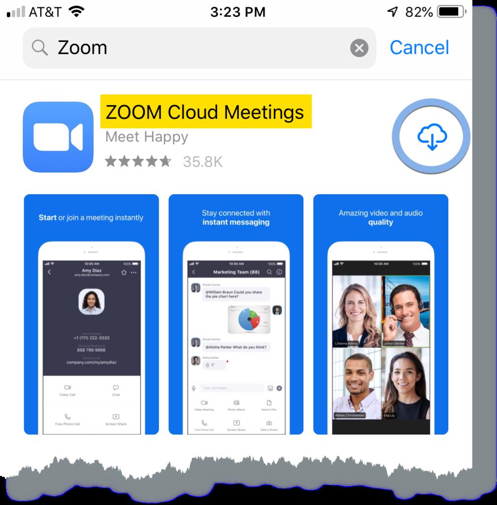 Zoom app download