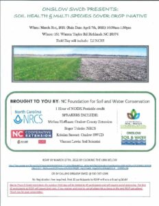 Cover photo for Soil Health and Multi Species Cover Crop Field Day (2021)