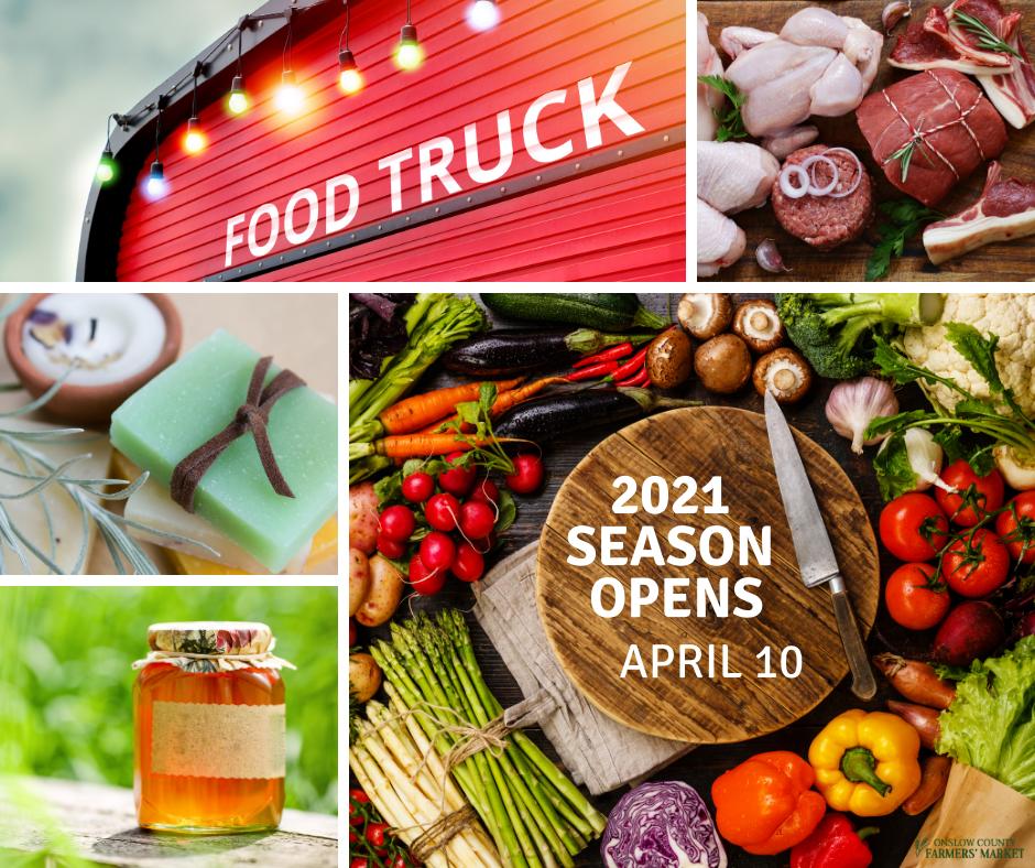 Onslow County Farmers Market 2021 Season opens April 10.